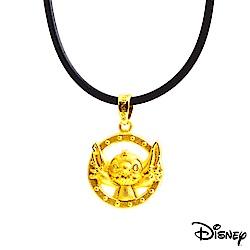 Disney迪士尼系列金飾 黃金墜子-嗨!史迪奇款 送項鍊