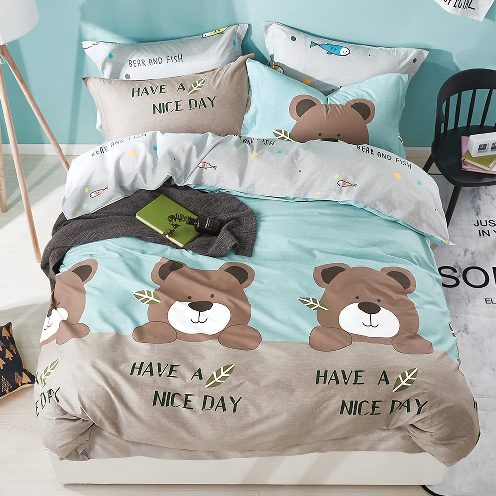 Ania Casa 精梳純棉 單人床包枕套兩件組-多款 product image 1
