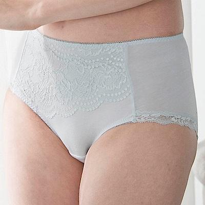 金華歌爾-寵愛英倫系列 M-3L 中腰三角褲(藍)包臀透氣