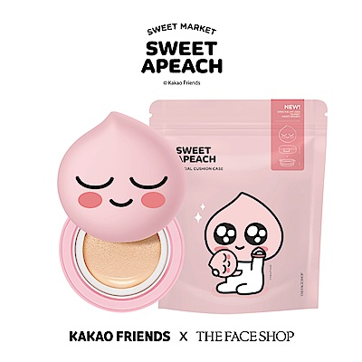 THE FACE SHOP SWEET APEACH 12H零暗沉氣墊粉餅組