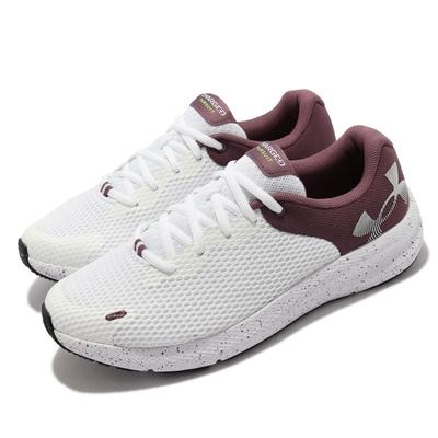 UA 慢跑鞋 Charged Pursuit 2 女鞋 輕量 透氣 舒適 避震 路跑 健身 白 紫 3025244101