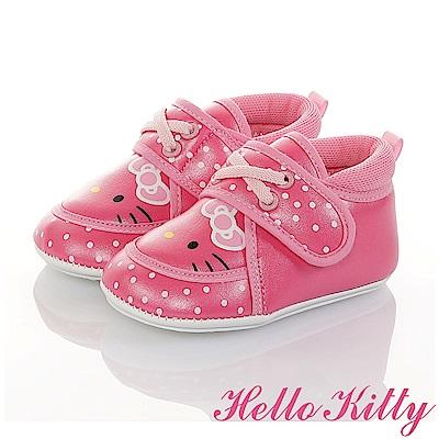 HelloKitty 點點系列 輕量柔軟減壓寶寶學步童鞋-桃