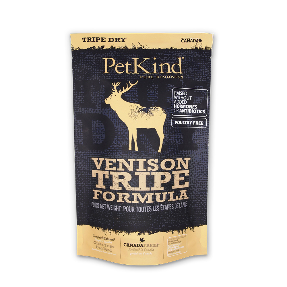 PetKind 野胃 天然鮮草肚狗糧 放牧鹿肉 300克三件組