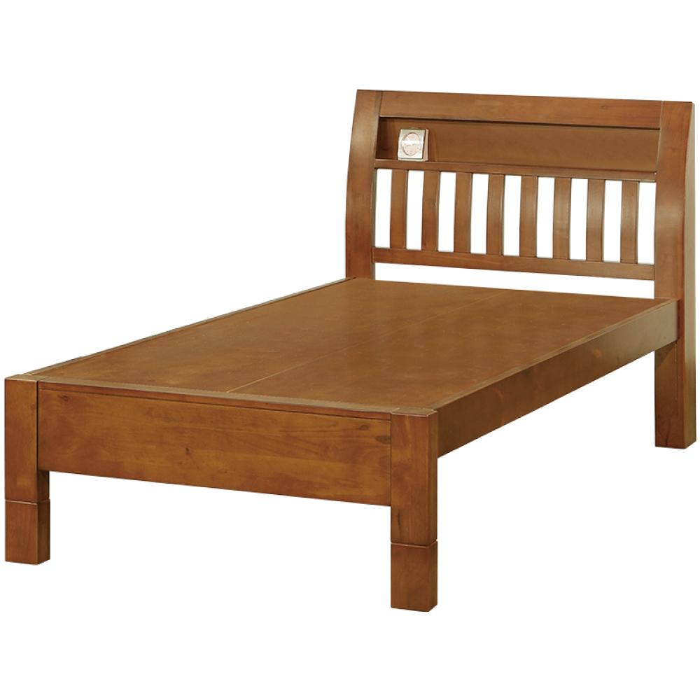 綠活居 羅蒙時尚3.5尺實木單人床台(不含床墊)-107x200x105cm免組