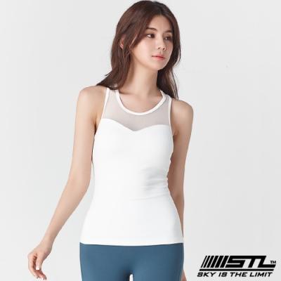 STL Yoga Bra top SS Slim Mesh 韓國 自然美型 運動機能背心(含專利胸墊) 透膚平衡網白