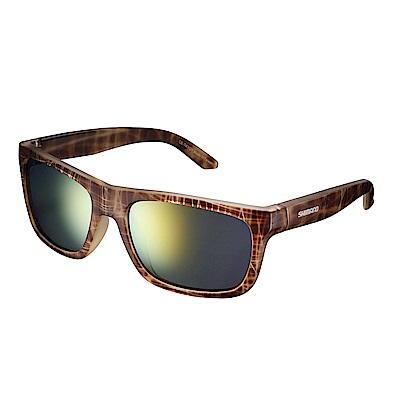 【SHIMANO】TOKYO 太陽眼鏡 琥珀棕色鏡框 (橘色煙燻鏡面鏡片)