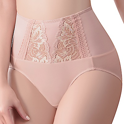 思薇爾 撩波葉之舞系列M-XXL蕾絲高腰三角修飾褲(羽透膚)