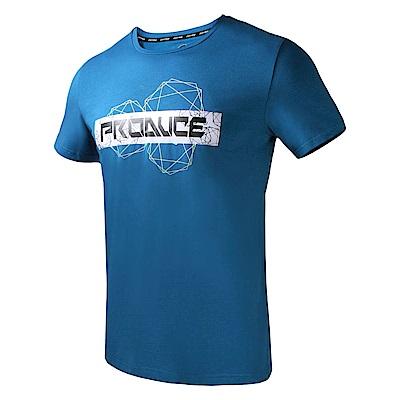 【ZEPRO】男子科技世代運動休閒短袖上衣-湛藍