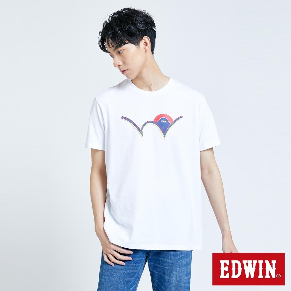 EDWIN 限定W LOGO短袖T恤-男-白色