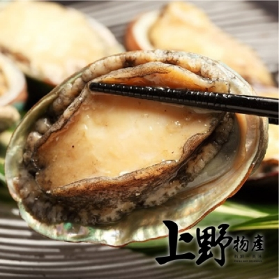 上野物產 厚實肥美帶殼鮑魚 x2盒(約20顆 1000g土10%/盒)
