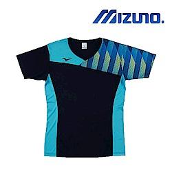MIZUNO 美津濃 男女短袖排球T恤 天藍 V2TA8G1713