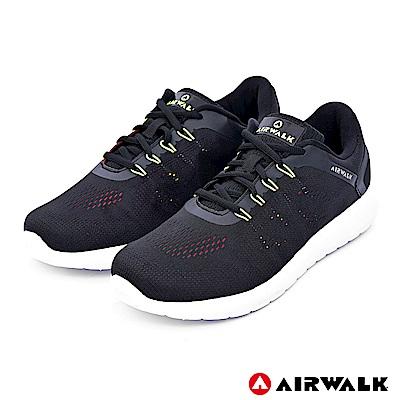 【AIRWALK】活力追夢針織運動鞋-黑色