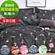 (限時下殺)La Lune 雲絲絨舖棉兩用被床包組+贈品(TC枕墊)