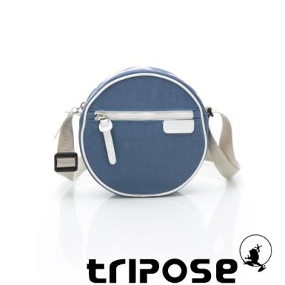 tripose PIPE系列滾邊圓型斜背包 水藍