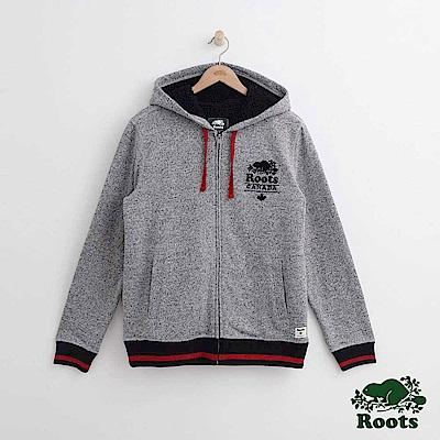 Roots 男裝-雪爾帕連帽外套-灰色