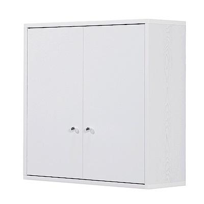 文創集 戴倫環保2.2尺塑鋼壁掛二門置物櫃/收納櫃-66x24x65cm-免組