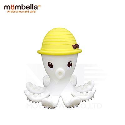 【任選】英國《mombella 》樂咬咬章魚固齒器(黃色)