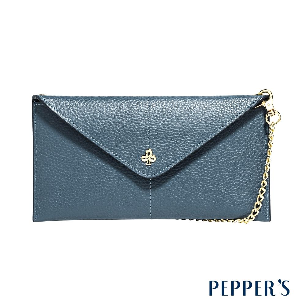 PEPPER'S Doris 牛皮信封手機包 - 礦石藍