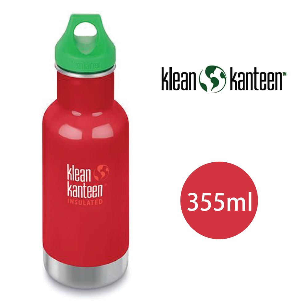【美國Klean Kanteen】幼童窄口不鏽鋼保溫瓶-355ml-寶石紅