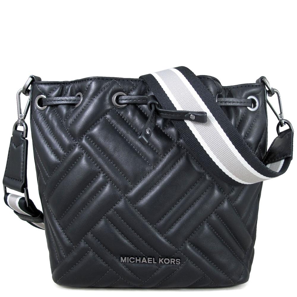 [時時樂限定] MICHAEL KORS寬帶兩用包/绗縫羊皮斜背包