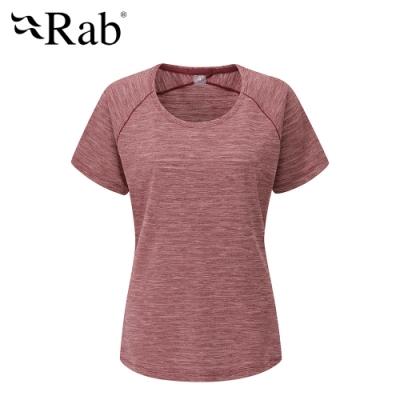 【英國 RAB】Wisp Tee 圓領透氣短袖T恤 女款 深石楠 #QBL12