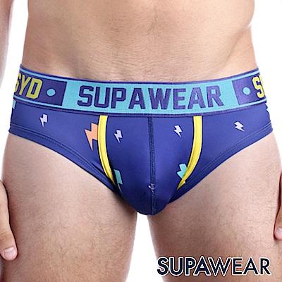 SUPAWEAR 趣味系列超彈性型男三角內褲(藍色)