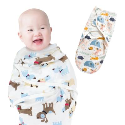 colorland拉鍊款懶人包巾 嬰兒純棉包巾