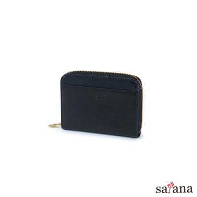 satana - Leather 經典卡片零錢包 - 黑色