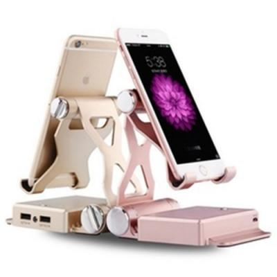 2合一【手機支架+行動電源】行動電源 安卓 蘋果通用 10400毫安