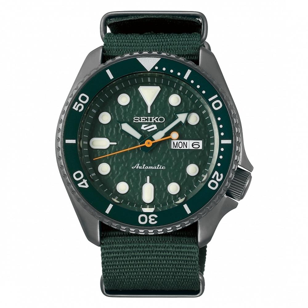 SEIKO 5 sport運動潮流機械腕錶/綠色4R36-07G0H(SRPD77K1)
