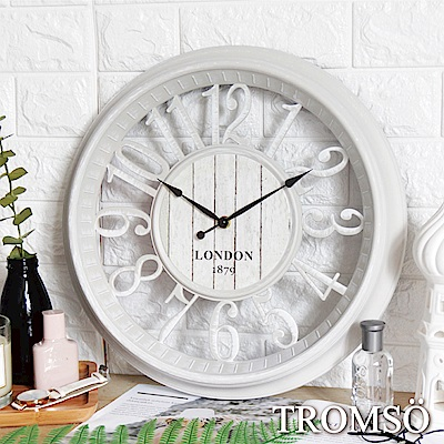 TROMSO紐約時代靜音時鐘-倫敦縷空數字白