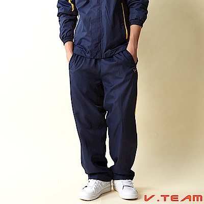 【V.TEAM】中厚風衣長褲-藍
