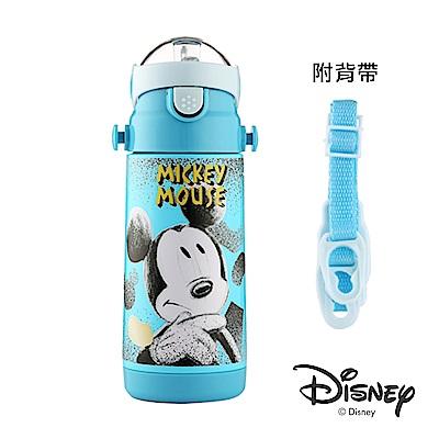 迪士尼Disney 米奇黑白#304不鏽鋼真空吸管保溫瓶380ml(快)