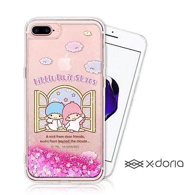 三麗鷗雙子星 iPhone 7/8 plus 亮片流沙手機軟殼 - 美麗天堂