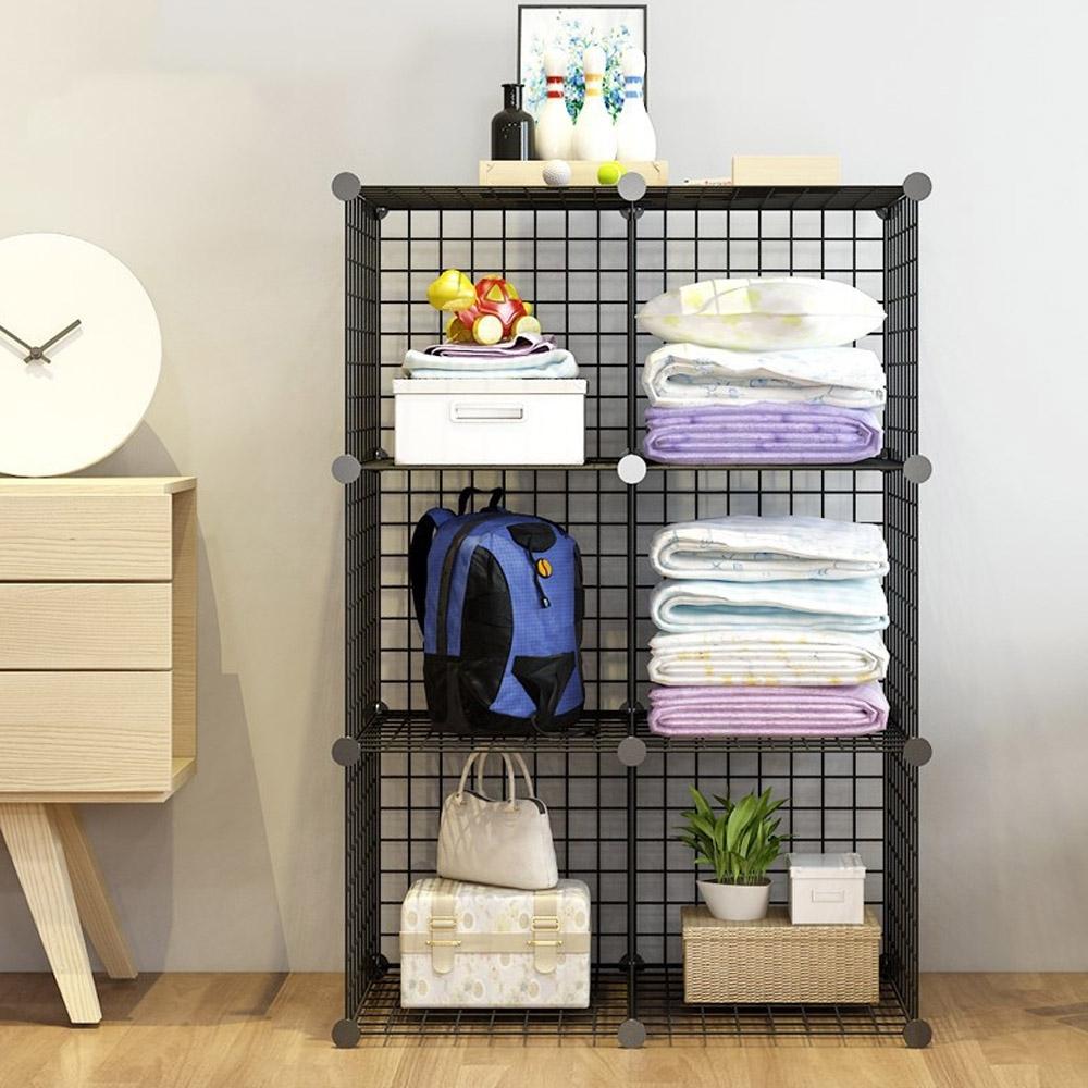 立體式鐵架組合置物櫃-6格款