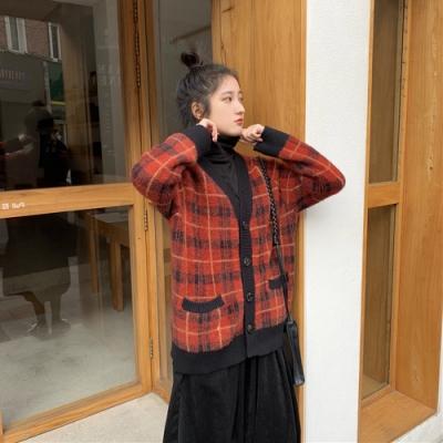 2F韓衣-韓系排扣口袋格紋外套-新-2色F