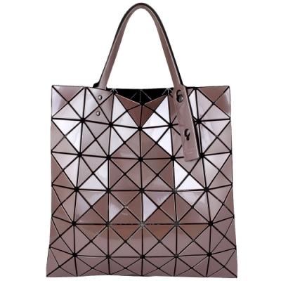 ISSEY MIYAKE 三宅一生BAOBAO 三角方格6x6透光手提包(珍珠粉)