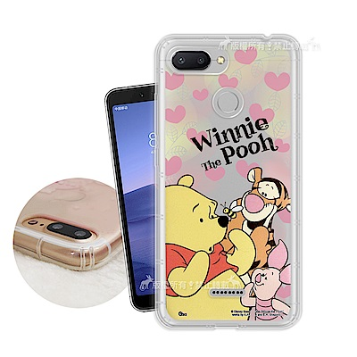 迪士尼授權正版 紅米6 繽紛空壓安全手機殼(維尼)