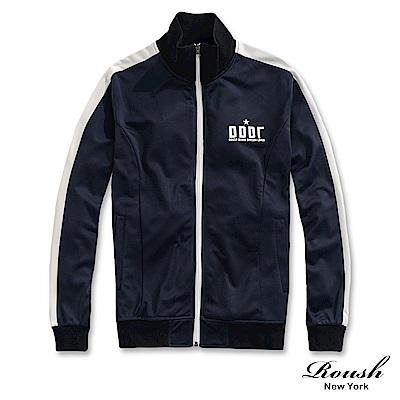 Roush 復古接布設計立領運動外套(2色)