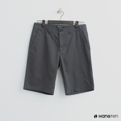 Hang Ten - 男裝 - 素色純面棉質短褲-灰