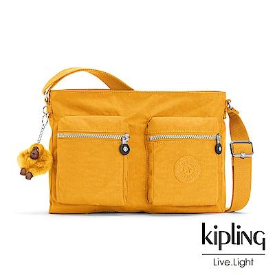 Kipling 亮眼芥末黃側背包-CORALIE