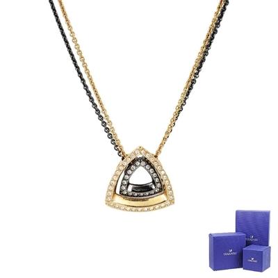 (福利品)SWAROVSKI 施華洛世奇 Lovesome璀璨水晶三角形組合項鍊