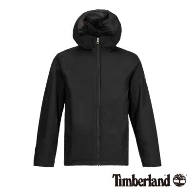 Timberland 男款黑色可收納智能穿搭防水連帽外套|A1ZQZ