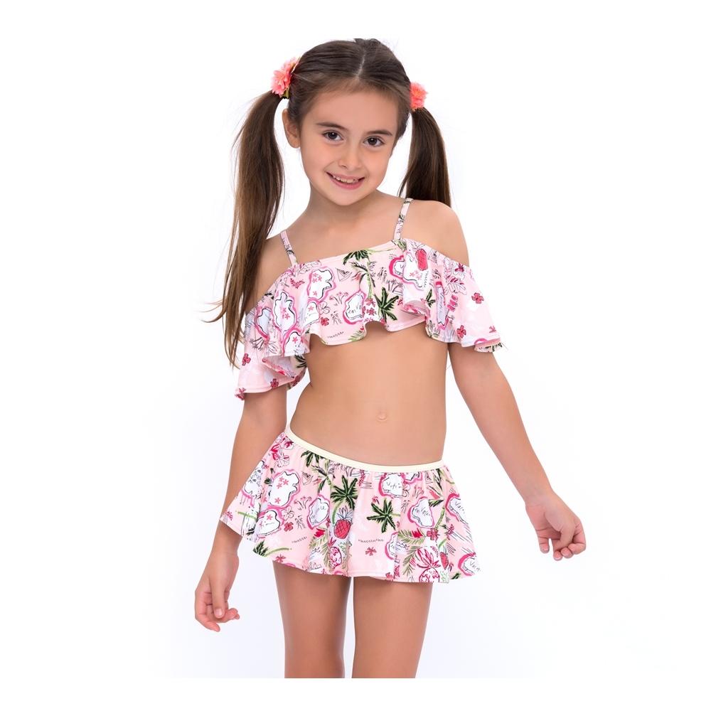 澳洲Sunseeker泳裝抗UV造型兩件式比基尼泳衣/小女童椰林粉5183003VAN