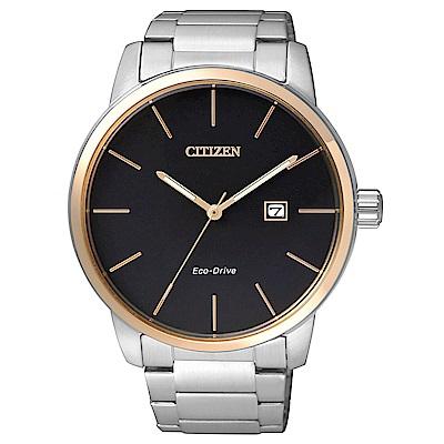 CITIZEN 沉著剛毅光動能石英腕錶(BM6964-55E)-黑/43mm @ Y!購物