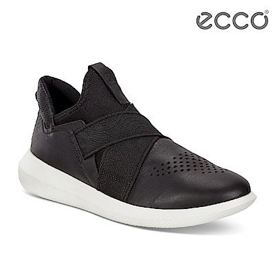 ECCO SCINAPSE LADIES 潮流襪套緩震運動鞋 女-黑