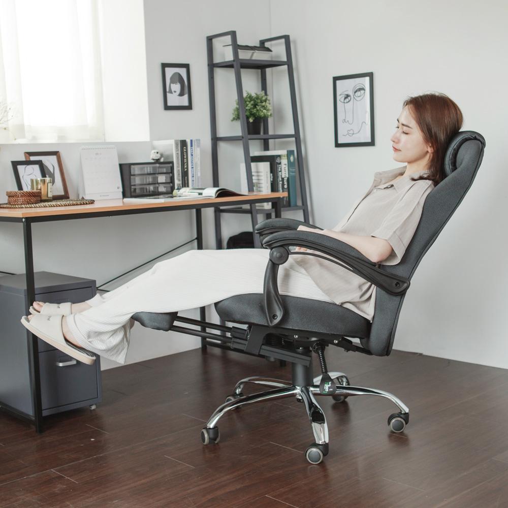 完美主義 總裁舒適伸縮腳靠電腦椅/辦公椅-64x64x115.5
