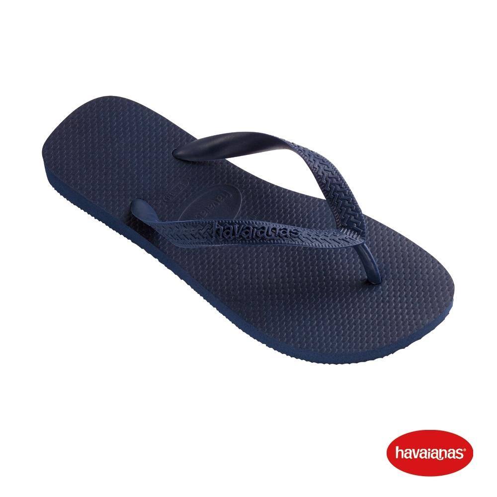 Havaianas 哈瓦仕 拖鞋 夾腳拖 人字拖 基本款素色 巴西 男女鞋 海軍藍 4000029-0555U Top 基本款素色
