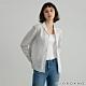 GIORDANO  女裝西裝領條紋襯衫 - 01 藍白條紋 product thumbnail 1