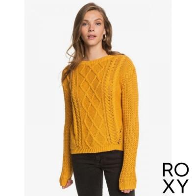 【ROXY】ENGLAND SKIES 針織毛線衣 黃色
